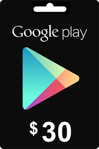 Google Play Gift Card 30 USD ($)