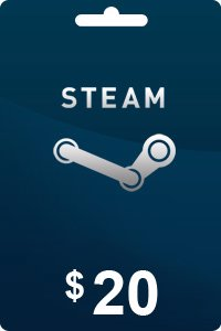 Steam Gift Card 20 USD