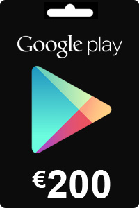 Google Play Gift Card 200 EURO (€)