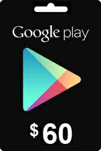 Google Play Gift Card 60 USD ($)
