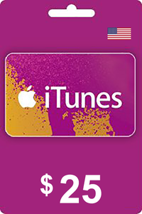 iTunes Gift Card 25 USD