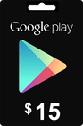 Google Play Gift Card 15 USD ($)