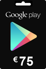 Google Play Gift Card 75 EURO (€)